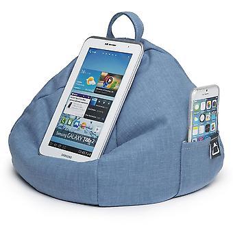 Ipad, tablet & ereader bean bag cushion by ibeani - denim blue