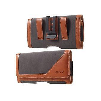 Clip de ceinture métallique pour OPPO A92S (2020) Case Textile - Cuir Horizontal