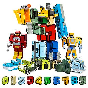 15pcs Creative Blocuri Asamblarea blocuri educaționale de acțiune Figura Robot Jucărie