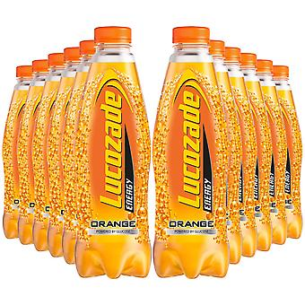 12 Pack of 900ml Lucozade Orange Sparkling Energy Drink Powered By Glucose