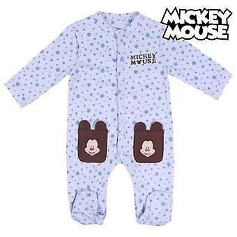 Baby's long-sleeved romper suit mickey mouse brown knees