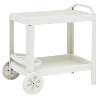 Beverage Cart White 69x53x72 Cm Plastic