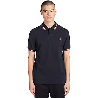 Fred Perry Men's Twin Tipped Polo T-Shirt Regular Fit