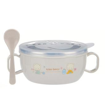 Baby Bowl Insulation Insulation Spoon Set, Tableware Cartoon Impresso