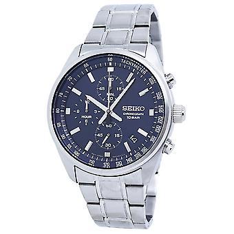 Seiko Chronograph Quartz Blue Dial Men's Watch SSB377