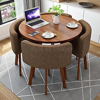 Yksinkertainen neuvotteluyhdistelmä Yksi pöytä Neljä tuolia