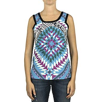Custo Barcelona Women Tank top Pen Geometric Multicolor