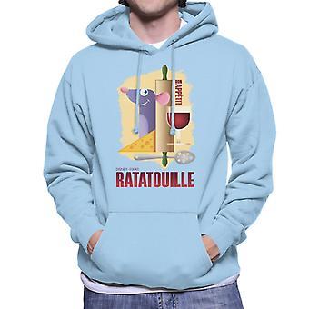 Pixar Ratatouille Remy Bon Appetit Men's Hooded Sweatshirt