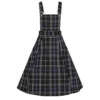 Collectif Clothing Kayden Nancy Check Overalls Swing Dress