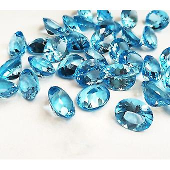 Natural Swiss Blue Topaz Aquamarine Loose Gemstone