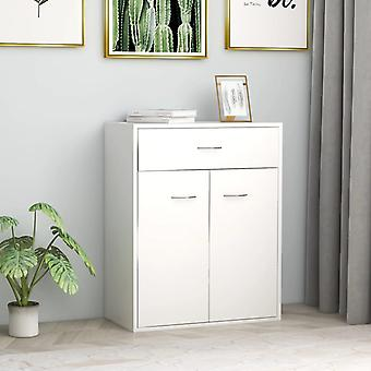 vidaXL Sideboard blanc 60 x 30 x 75 cm Panneau de particules