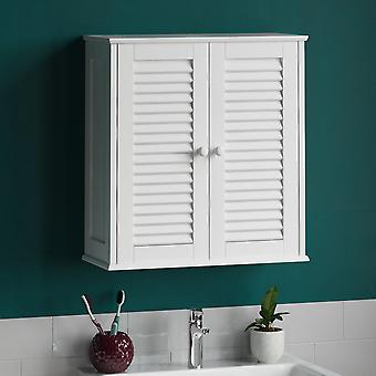 Liano 2 Door Wall Mounted Cabinet, White