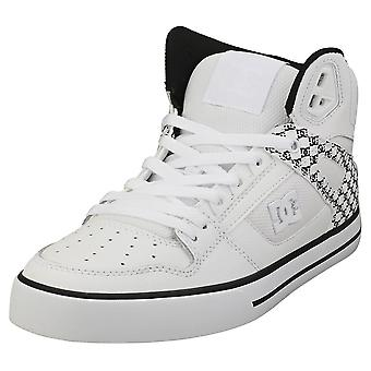 DC Shoes Pure High-top Wc Mens Casual Trainers in White Black