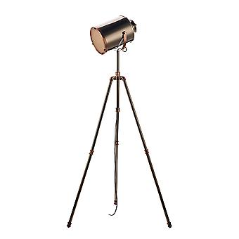 Tripod Task Floor Lamp Antique Silver And Copper
