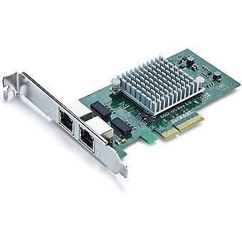 FengChun Gigabit PCIE Serveradapter fr Intel I350-T2 -I350AM2 Chip, Dual RJ45 Port, 1Gbit PCI