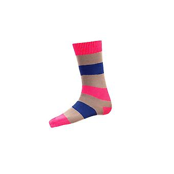 House of Cheviot Gents Bold Stripe Short Socks ~ Clematis