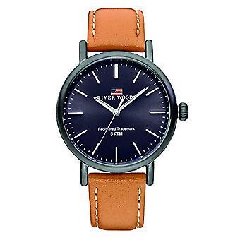 River Woods Analog Men's Quartz Watch with Leather Strap RW420031