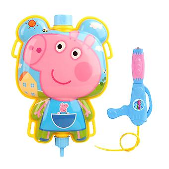 Peppa Pig Backpack Squirt Gun Outdoor Water Blaster Squirt Gun With Adjustable Straps