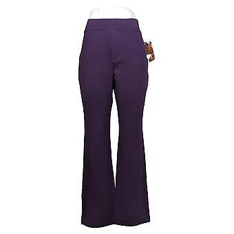 IMAN Global Chic Women's Pants Boot-Cut Pant Purple 722609504