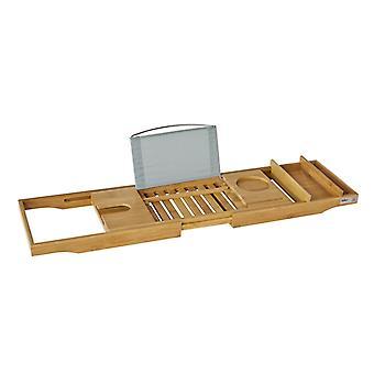 SoBuy extensible bañera puente bandeja rack con soporte de vino del teléfono iPad, FRG207-N