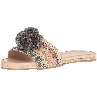 KAANAS Women's Santa Helena Slip Pom Flat Sandal