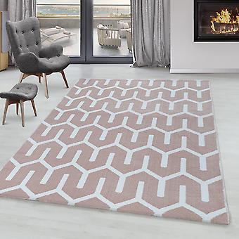 Sala de estar Carpet RICA Short Pile Soft Flor Grid Design