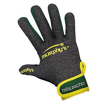 Murphy's Gaelic Gloves 8 / Small Grey/Green/Yellow