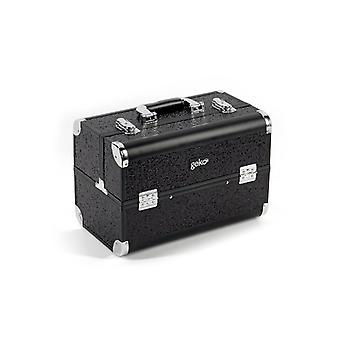 Vanity Case Makeup Box Heavy Duty Black Glitter