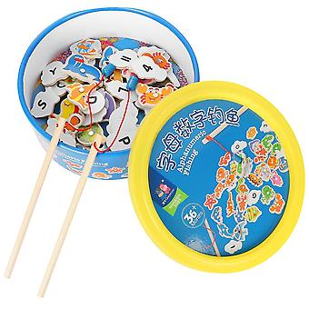 Wooden Magnetic Fishing Toys Numbers Creative Durable Lightweight Educational Toys For Kids