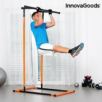 InnovaGoods-kokovartaloinen pull-up-asema ja liikuntaopas