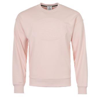 Lacoste LIVE Appliquéd Crocodile Crew Neck Sweatshirt - Pink