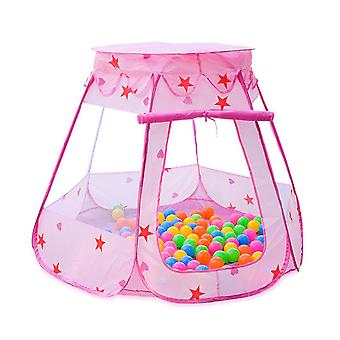 Homemiyn Collapsible Star Indoor Game Tent House 130 Colorful Ocean Balls Kid Play House