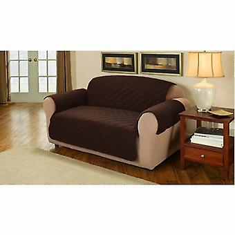 Changing Sofas Soft Faux Suede Quilted 1 Seater Sofa Cover Protector Throw, Brown