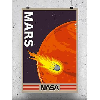 Mars And Meteorite Poster - NASA Designs