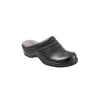 SoftWalk Womens Abby Leather Closed Toe Clogs