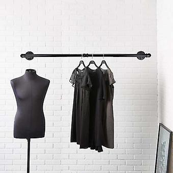 Bedroom Garment Home Multipurpose Wall Mounted Rustic Easy Install Industrial Pipe Holders & Racks