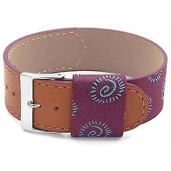 (18mm) OTAN G10 Zulu Watch Strap Dassari Milan Purple Italian Silk Leather !6mm a 24mm