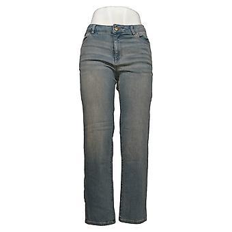 LOGO by Lori Goldstein Women's Jeans Tinted Boyfriend 5-Pocket Blue A309825
