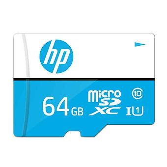 Micro SD Memory Card with Adaptor HP Class 10 100 Mb/s