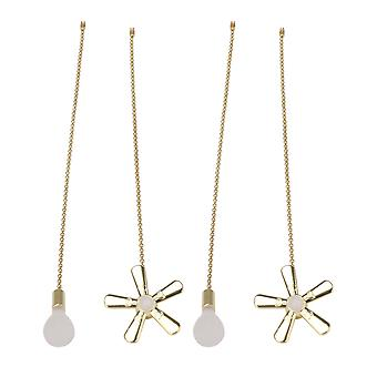 Lamps 4pcs golden ceiling fan bulb pull chains lighting accessories for home