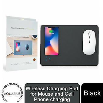 Aquarius Wireless Ladepad für Maus und Handy aufladen, schwarz