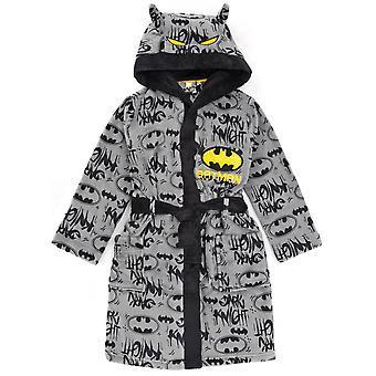 DC Comics Бэтмен Халат для мальчиков и девочек | Дети Серый Темный Рыцарь Фильм Карманный Халат | Детский мягкий пушистый халат Pjs