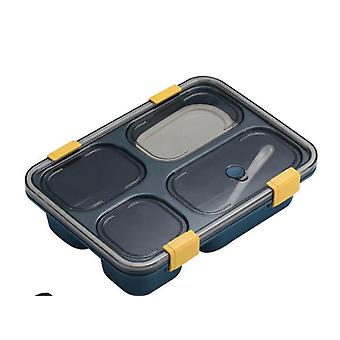 4 grids draagbare outdoor Bento Box Japanse stijl voedsel opslag containers lek bewijs lunch box (blauw)