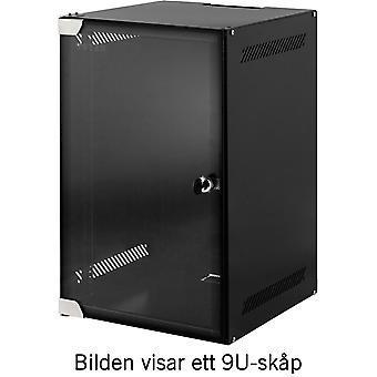 "TOTEN, 10"" wall cabinet, 4U, 280x310, glass door, unassembled, black"