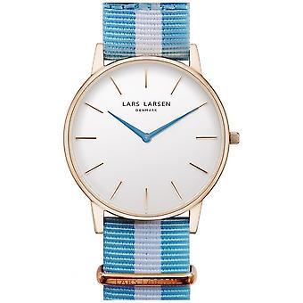 LLarsen (Lars Larsen Two-Tone Textile) 147RWD-CNR20 Men's Watch