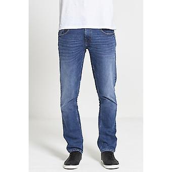 Dml jeans maverick slim straight fit jeans - mid wash