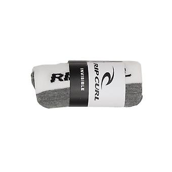 Rip Curl Invisible Sock In A Box No Show Socks in White