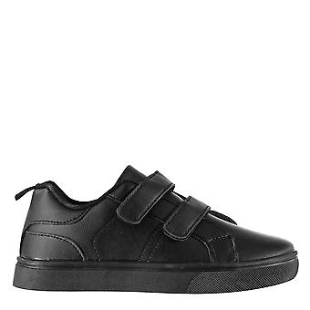 Fabric Kids Childrens Low Top Touch Fastening Everyday Sneakers Trainers Shoes