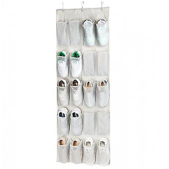 20 poche au-dessus de la porte accrochée organisateur de chaussures de grande taille