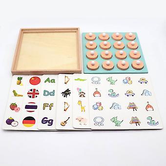 3d لغز خشبي للأطفال مطابقة لعبة الذاكرة الشطرنج لعبة الأطفال في وقت مبكر التعليم لعب الدماغ لعبة لغز التدريب